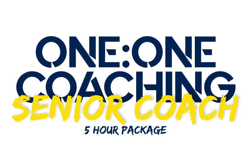 1:1 with Senior Coach(5-hour package)